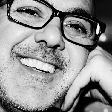 Black and White close up shot of Bassem Nassar.